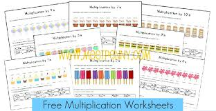 free multiplication worksheets u0026 fact cards with visual cues