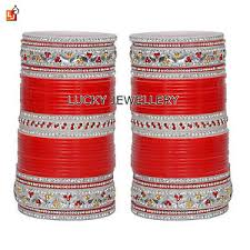 punjabi wedding chura acrylic wedding chura bangle set punjabi bridal chuda jewelry