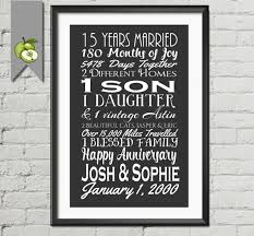 15th wedding anniversary gifts for wedding anniversary subway print printable 15th anniversary