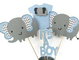 elephant baby shower centerpieces elephant baby shower centerpiece in blue and gray elephant theme