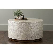 White Wood Coffee Table East At Rowden White Wood And Capiz