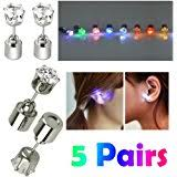 light up earring studs ic iclover 1 pair led earrings glowing light up