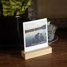 photo holder crafted prints wood block photo holder accessories