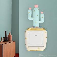 cactus home decor 3d cartoon cactus wall stickers decals home decor for fridge kitchen