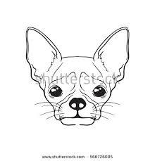 vector face dog black white stock vector 566957929