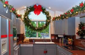 christmas decorations for kitchen cabinets christmas decorating ideas for the kitchen on a budget interior
