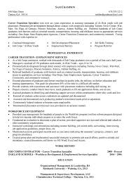 Sample Career Change Resume by Sample Resume Job Transition Augustais