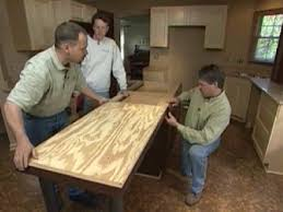 How To Build A Small Kitchen Island How To Install A Center Kitchen Island How Tos Diy