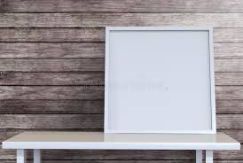 Desk Picture Frame Blank Picture Frame Canvas On Desk In Loft Room With Clipping Pa