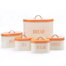 orange kitchen canisters canisters jars birch