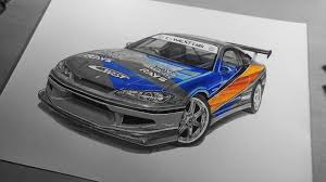 nissan silvia drawing han