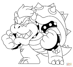 bowser coloring pages online coloring home