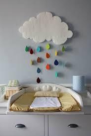 diy deco chambre enfant nuage et gouttes colorées diy décoration bébé chambres d enfant