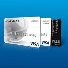 visa platinum rewards credit card alliant credit union