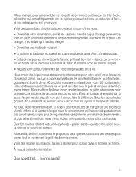 exercice recette de cuisine cuisine anticancer éditions odile jacob