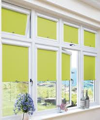 blackout lime green perfect fit roller blind for upvc windows
