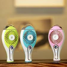 handheld misting fan portable water spray fan handheld mini usb beauty misting fan with