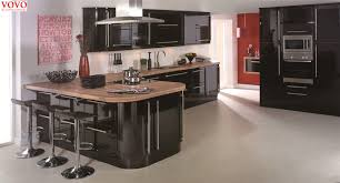 how to make kitchen cabinets high gloss high gloss black lacquer kitchen cabinet with curvy island