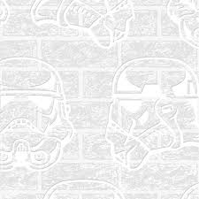 Paintable Textured Wallpaper by Star Wars Storm Trooper Paintable Brick Effect Embossed Wallpaper