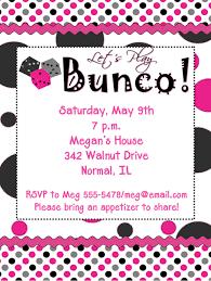 bunco party bunco invites bunco casino and party invitations new
