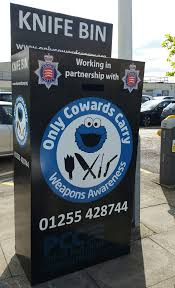 uk police delete u0027only cowards carry u0027 knife bin social media post