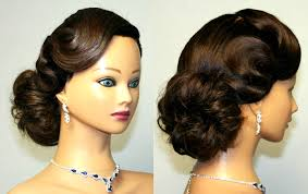 vintage updo hairstyle for medium long hair youtube