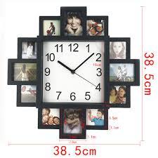 2017 new diy wall clock modern design diy photo frame clock