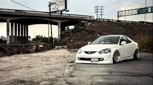 bagged nissan car bagged acura rsx driven