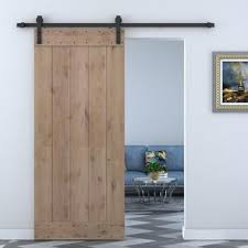 Barn Door Interior Solid Wood Panelled Alder Interior Barn Door Jpg