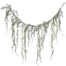 alcott hill weeping cedar artificial garland unlit
