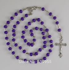 purple rosary purple wood rosary inri jesus cross religious catholic rosary ebay