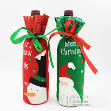Christmas Wine Merry Christmas Wine Bottle Covers