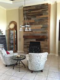 lynn u0027s reclaimed wood accent wall with custom mantle fama creations