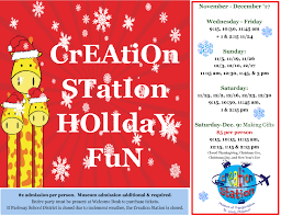 Creation Station Desk Events Calendar The National Museum Of Transportation
