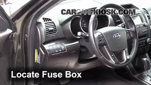 interior fuse box location 2011 2013 kia sorento 2012 kia
