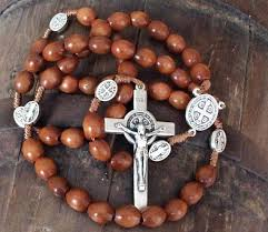 medjugorje rosary st benedict wooden rosary handcrafted in medjugorje catholic