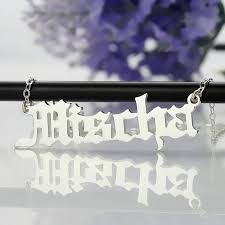 get name necklace personalized name necklace sterling silver