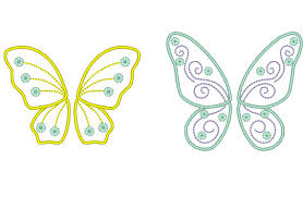 tinkerbell wings outline images clip art library