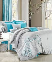 elegant luxurious blue and brown bedding looks like a luxury