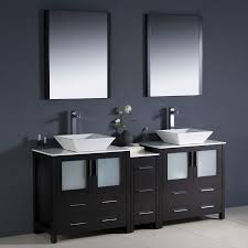 shop fresca bari espresso double vessel sink bathroom vanity with