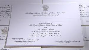 royal wedding invitation see prince harry and meghan markle s wedding invitations today