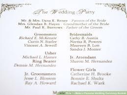 Wedding Ceremony Program Sample Wedding Program Enchanting Wedding Ceremony Booklet Wedding