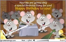 singing birthday card invitation sles singing birthday ecards chic brown grey