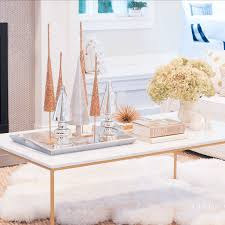 styling a coffee table transitioning to christmas lindsay hill
