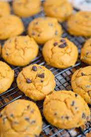 easy thanksgiving cookies easy pumpkin chocolate chip cookies made with cake mix