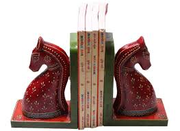 horse bookend decor wooden bookends free shipping india