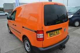 used 2012 volkswagen caddy c20 tdi bluemotion 102 orange van air