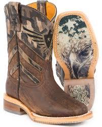 tin haul boys u0027 sergeant at arms eagle cowboy boots square toe