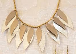 leather leaf necklace images Jewelry workofworth jpg
