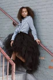 online cheap black tutu tulle high low skirts layers spring summer